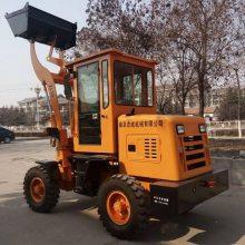 产品直销轮式集料卸料铲运车 农场用抓木抓草机 工程用装载机