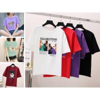 武汉去哪找3块钱女士T恤纯棉T恤摆地摊哪里有便宜货源时尚T恤宽松大版T恤上衣