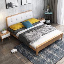 温莎实木床北欧实木床现代简约双人床北欧日式1.8米1.5米卧室家具