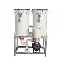 厂家订做:电镀药液双桶过滤机 耐酸碱并联电镀过滤机 工业设备