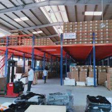 出口工字钢阁楼 大跨度阁楼平台 重型货架阁楼