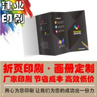 专业印刷厂家/157g/三折页/宣传单企业画册精装书彩页印刷