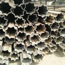 厂家定做20#六瓣梅花管 配套梅花管 尺寸可加工 定做 山东聊城异型钢管厂