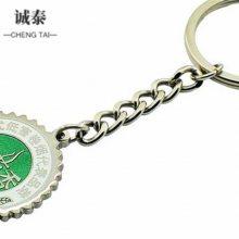 钥匙扣动漫定制 金属方形钥匙圈 创意小礼品可转钥匙配饰