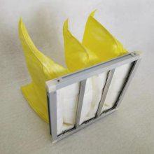 山东中效袋式空气过滤器厂家批发595*495中效空气过滤袋 黄色中效袋式空气过滤器