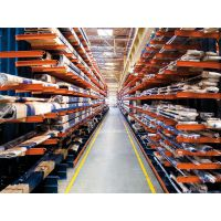 四层单臂1000kg/层固联悬臂重型货架,型号10000*1000*4000高位立体仓库货架,可定制