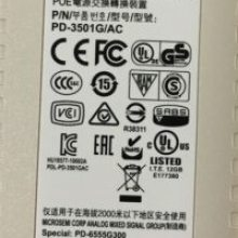 JW627A Microsemi PD-3501G-AC 交换机电源适配器POE供电模块