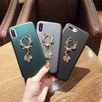 新款原创麋鹿苹果7plus手机壳奢华女iphone8软壳潮牌8x水钻保护套