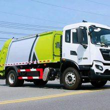 12方后挂桶式压缩垃圾车 东风自装卸式垃圾车报价 9吨垃圾车价格