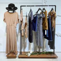 找品牌女装尾货去广州哪个批发市场尘色品牌尾货女装上海专柜品牌欧美连衣裙职业女装