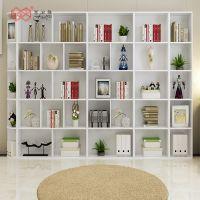 富滋雅供应简约创意书柜厂家定做格子组合书柜样色可选