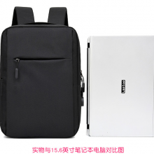 USB充电背包 男士多功能电脑背包 笔记本双肩包 商务电脑背包定制