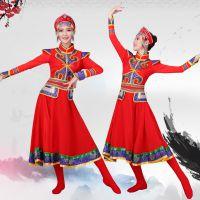 新款蒙古服装少数民族蒙古族裙袍广场舞服装草原舞鸿雁舞筷子舞服