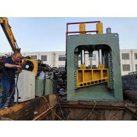 山东思路供应小型龙门剪切机 热销400-600吨双龙门式剪切机 废料切断视频