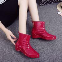 女士雨鞋休闲都市时尚防水鞋短筒马丁雨靴胶鞋果冻鞋成人防滑厨房