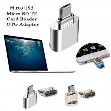 锌合金micro otg转接头 金属安卓读卡器手机平板连接U盘转换器