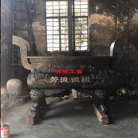 长方形平口铜铁香炉 广东梅州祠堂公墓香炉供应商