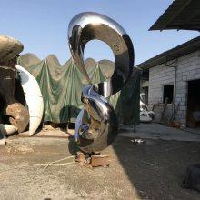 8字造型不锈钢镜面效果雕塑/麻花艺术金属模型/城市广场抽象几何数字8铁艺摆件