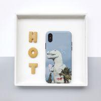 可爱卡通小恐龙苹果X手机壳iphone6s/7软胶光8plus软情侣新款