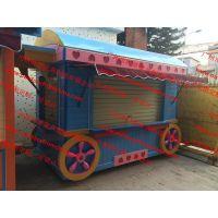 云南欢乐世界售卖亭,方特主题乐园餐饮花车,商业步行街木质售货车