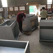 生产销售 养猪设备 不锈钢双面食槽 育肥用不锈钢料槽
