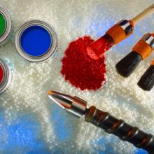 阜润塑化颜料 氧化铁红190M 油漆用透明氧化铁红130