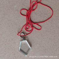 水晶吊坠 水晶项链吊坠 免打磨白胚 送颈绳 吊绳