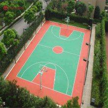 衡阳室外塑胶篮球场施工 学校网球场塑胶地坪 新国标硅PU球场材料