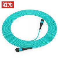 胜为光纤8芯MPO-MPO母头 多模OM4万兆40G光模块集束光纤跳线FMPP-8003