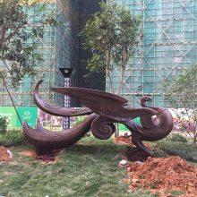 抽象动物雕塑模型 园林小品摆件 玻璃钢雕塑厂家