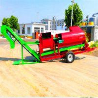 柴油机带花生摘果机 干湿两用果子果秧分离机 万向节传动花生摘果机
