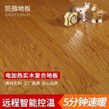 凯微电加热发热实木复合地板 家用智能5分钟速暖