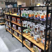 定制日用品展示架厨具钢木架超市货架 锅具展柜 小商品架子