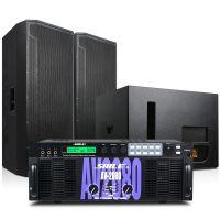 狮乐专业大型会议室音响套装演出馆功放机AV2080/BM25/效果器话筒舞台设备套装 户外音响