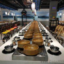 工厂生产新式旋转麻辣烫餐桌 自助小火锅设备 回转火锅设备
