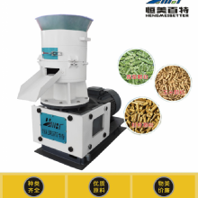 中小型有机肥颗粒机产量 时产2吨有机肥平模颗粒机生产线