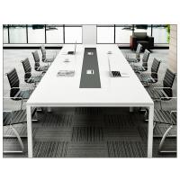 九江办公会议桌简约现代小型板式办公家具长桌培训洽谈桌会议桌椅定制