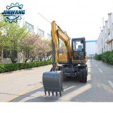 国产轮挖机 轮式小型挖掘机75 国产75轮式挖掘机 金旺轮挖