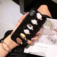 原创夏日闪粉滴胶冰淇淋雪糕苹果x手机壳软壳iphone8plus女款6/6s