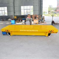 定制托举10t集装箱平移电动平板车制造商 喷涂运输线轨道台车代理
