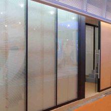 办公室玻璃隔断百叶帘 中空玻璃隔断百叶帘免费报价 上海舒朗铝合金中空百叶