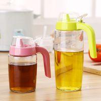 馨友大号玻璃防漏油壶 厨房用品小号带盖不挂油装油瓶调味瓶批发