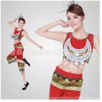 新款壮族苗族瑶族土家族黎族高山族侗族服装女少数民族无袖舞蹈
