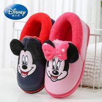 一件代发米奇儿童棉鞋 冬季pu皮防水包跟棉鞋 家居可爱卡通童鞋