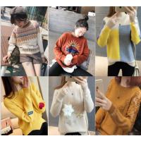 便宜女士毛衣宽松大码女装韩版时尚女士上衣羊毛衫套头毛衣清