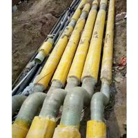 玻璃钢电缆保护管为非磁性材质 无涡流损耗和电腐蚀 -50℃—130℃长期使用而不变形。品牌华庆