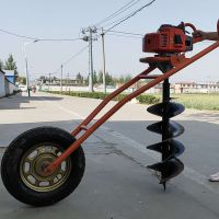 亚博国际真实吗机械 植树专用挖坑打眼机 单人操作轻便汽油钻洞 便携式挖树坑机器 汽油大马力高效打坑机
