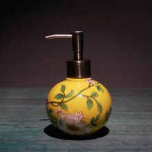 卫生间洗漱用具 陶瓷手绘定制浴室漱口杯牙刷筒用具