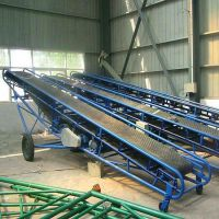 都用-十米长粮食装车输送机 废旧钢筋管皮带输送机 大型沙石皮带机定做