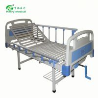 HR-612 厂家批发 医院病床 门诊单摇床 abs手动一功能护理床